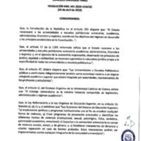 Resolución Nro. C.U. 641-2019-UCACUE