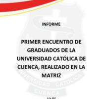 PRIMER ENCUENTRO DE GRADUADOS 2017