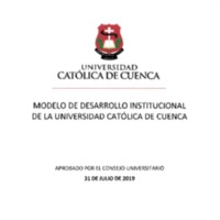 Modelo de Desarrollo Institucional de la Universidad Católica de Cuenca