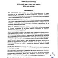 Resolución Nro. C.U. 551-2018-UCACUE
