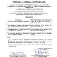 Requisitos - Graduados para Cogobierno