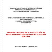 Informe Evaluación - Arquitectura