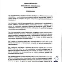 Resolución Nro. C.U. 598-2018-UCACUE