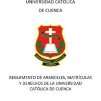 Reglamento de Aranceles, Matrícula y Derechos de la UCACUE
