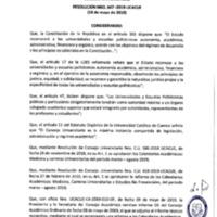 Resolución Nro. C.U. 647-2019-UCACUE