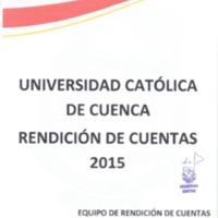 Rendición de Cuentas 2015