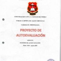 Proyecto de Autoevaluación de la Carrera de Odontología Sede Azogues