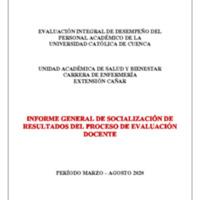 Informe Evaluación - Enfermería