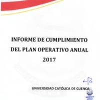 Informe del Cumplimiento del Plan Operativo Anual 2017