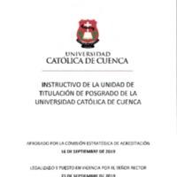 INSTRUCTIVO DE TITULACIÓN DE POSGRADO