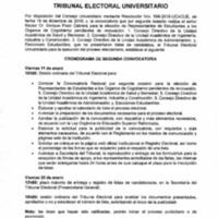 Cronograma 2da convocatoria - Tribunal Electoral