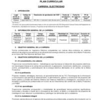 Plan Curricular - Carrera de Electríca