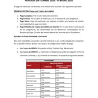 Costos y Modalidades de Pago - Financiero