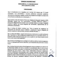 Resolución Nro. C.U. 564-2018-UCACUE<br /><br />