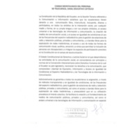 Código Deontologico del personal de Telecuenca, canal educativo Católico