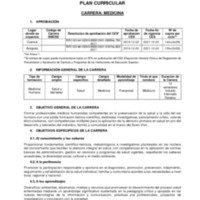 Diseño Curricular - Carrera de Medicina - Rediseño