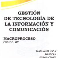 Manual de Uso y Políticas del Servicio de Correo Electrónico Institucional