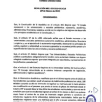 Resolución Nro. C.U. 623-2019-UCACUE