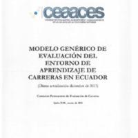 Modelo genérico de evaluación