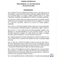 Resolución Nro. C.U. 541-2018-UCACUE