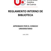 Reglamento Interno de la Biblioteca