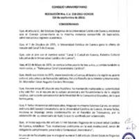 RESOLUCIÓN C.U. 258-2015-UCACUE