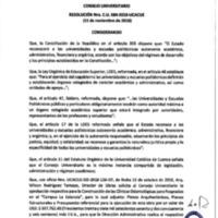 Resolución Nro. C.U. 584-2018-UCACUE