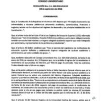 Resolución Nro. C.U. 568-2018-UCACUE<br /><br />