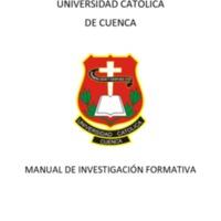 Manual de Investigación Formativa