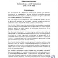Resolución Nro. C.U. 537-2018-UCACUE