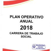 Plan Operativo Anual 2018 - Carrera de Trabajo Social