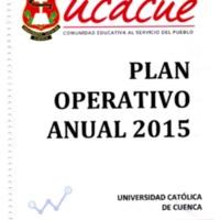 Plan Operativo Anual 2015 - POA