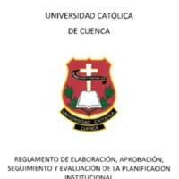 Reglamento de EASV de la Planificación Institucional
