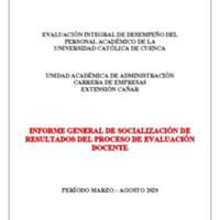 Informe Evaluación - Empresas