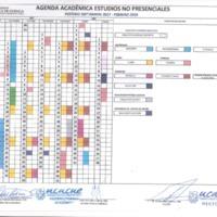 Agenda Académica - Estudios no Presenciales