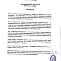 Resolución Nro. C.U. 620-2019-UCACUE