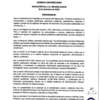 Resolución Nro. C.U. 590-2018-UCACUE