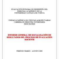 Informe Evaluación - Medicina Veterinaria