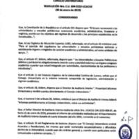 Resolución Nro. C.U. 604-2019-UCACUE