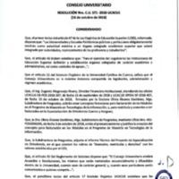 Resolución Nro. C.U. 571-2018-UCACUE<br /><br />