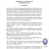 Resolución C.U. 458-2017 - UCACUE