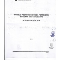 Actualización Modelo Pedagógico de la Formación Integral del Estudiante