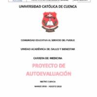 Proyecto de Autoevaluación de la Carrera de Medicina Matriz Cuenca