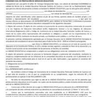 Convenio de Prestación de Servicios - Planteles Anexos - Periodo 2019/2020