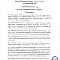 Resolución Administrativa Nro. 060 -2019-UCACUE
