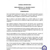 RESOLUCION C.U.256-2015-UCACUE-26-9-2015