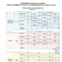 Agenda Académica junio 2018 - noviembre 2018 - Maestría en Derecho Constitucional - I y II cohorte