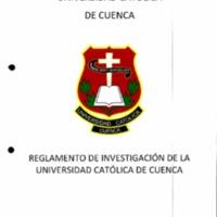 Reglamento de investigación de Universidad Católica de Cuenca
