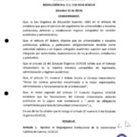 RESOLUCIÓN C.U. 110-2014-UCACUE