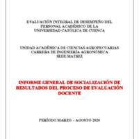 Informe Evaluación - Ingeniería Agronómica